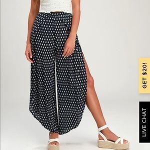 Lulus Navy Blue Culotte Pants